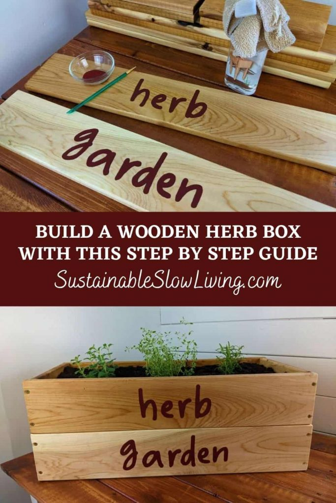 pinnable for diy wooden herb box
